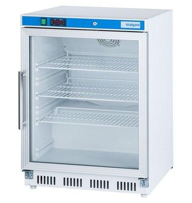 Stalgast Kühlschrank | Glastür | 130 Liter | (h) 855 mm (t) 585 mm (B) 600 mm