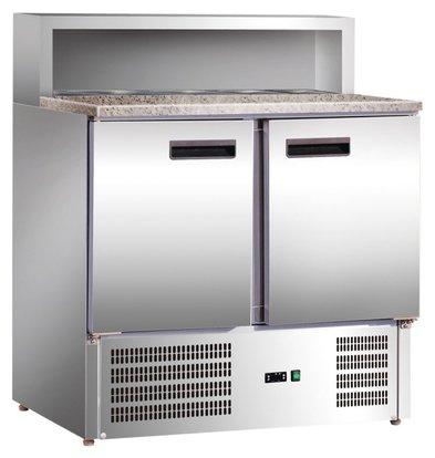 Stalgast Pizzatisch | 2 Türen | 0,23 kW | 240L | 900x700x (h) 1090mm