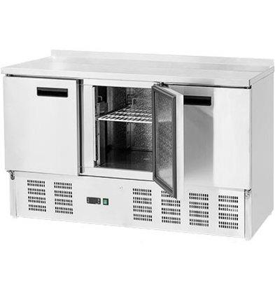 Stalgast Kühltisch | 3 Türen | 308L | 0,23 kW | 1365x700x (H) 880mm
