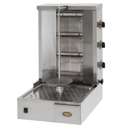 Roller Grill Grill für Gyros / Kebab | Gas | 7 kW | 580x660x (H) 645mm