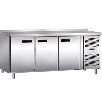 Stalgast Kühltisch | 3 Türen | 358L | 0,35 kW | 1795x700x (H) 860mm