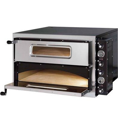 Gredil Pizzaofen | 2 Kammer  | 2x 4 Pizza 35cm | 835x835x (h) 545 mm