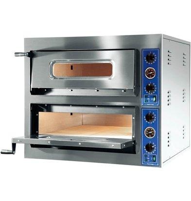 GGF Pizzaofen | X-Line | 2x 4 Pizzas 30cm |  900x735x (h) 750 mm | Int.  610x610x (H) 140mm