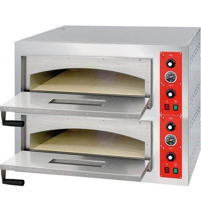 Stalgast Pizzaofen | 2x 4 Pizzen 32cm | 975x815x745mm | Int.  2x 660x690x230mm