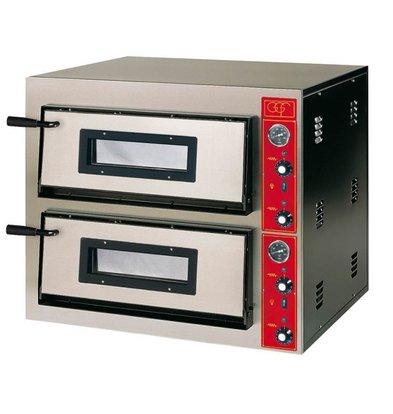 GGF Pizzaofen | E-Line | 2x 4 Pizzas 30cm | Ext. 900x735x (h) 750 mm | Int.610x610x (H) 140mm