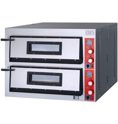GGF Pizzaofen | F-Linie | 2 x4 Pizzas 36cm | Ext. 1010x850x (h) 750 mm | Int. 720x720x (H) 140mm