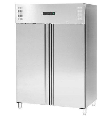Stalgast Tiefkühlschrank | 2 Türen | Edelstahl | GN 2/1 | 1311L | 1480x830x (h) 2000mm