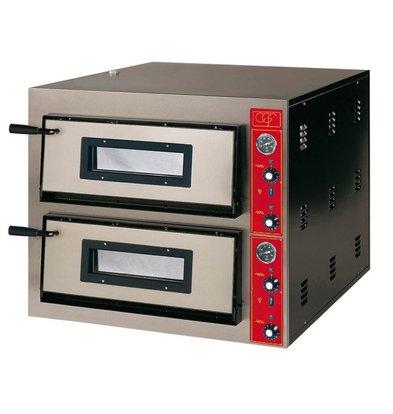 GGF Pizzaofen | E-Line | 2x 6 Pizzen 30cm | Ext. 900x1020x (h) 750 mm | Int. 610x910x (H) 140mm