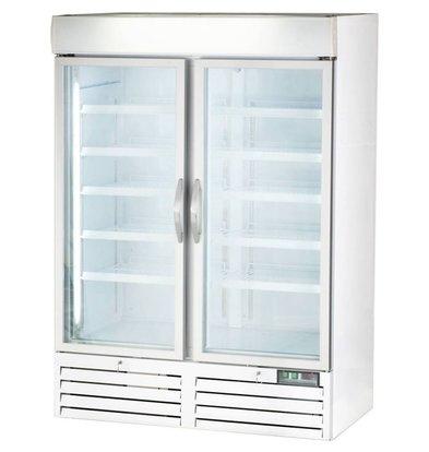 Stalgast Tiefkühlschrank | 2 Glastüren | 1079 Liter | | 1370x700x (h) 1990mm