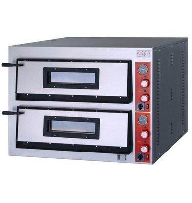 GGF Pizzaofen | F-Linie | 2x 6 Pizzas 36cm | 1010x1210x (h) 750 mm | 18 KW