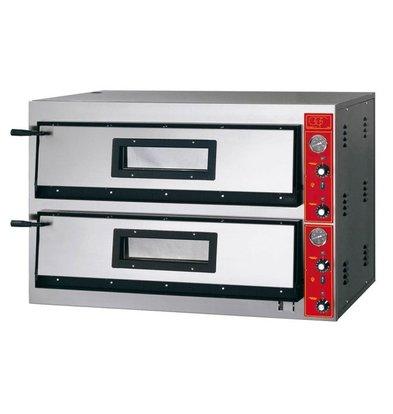 GGF Pizzaofen | E-Line | 2x 6 Pizzen 30cm | 1150 x 735 x (h) 750 mm | 18,8 KW