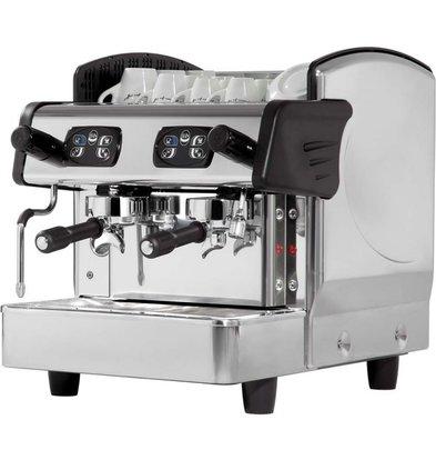 Stalgast Kaffeemaschine | 2 Gruppen | 6L | 460x590x (h) 530 mm | 2,8KW