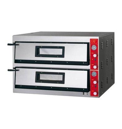GGF Pizzaofen | E-Line | 2x 9 Pizzen 30cm | 1150 x 1020 x (h) 750 mm | 19,2 KW