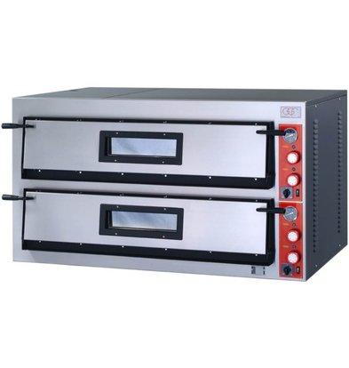 GGF Pizzaofen | E-Line | 2x 9 Pizzen 36cm | 1370 x 1200 x (h) 750 mm | 26,4 KW