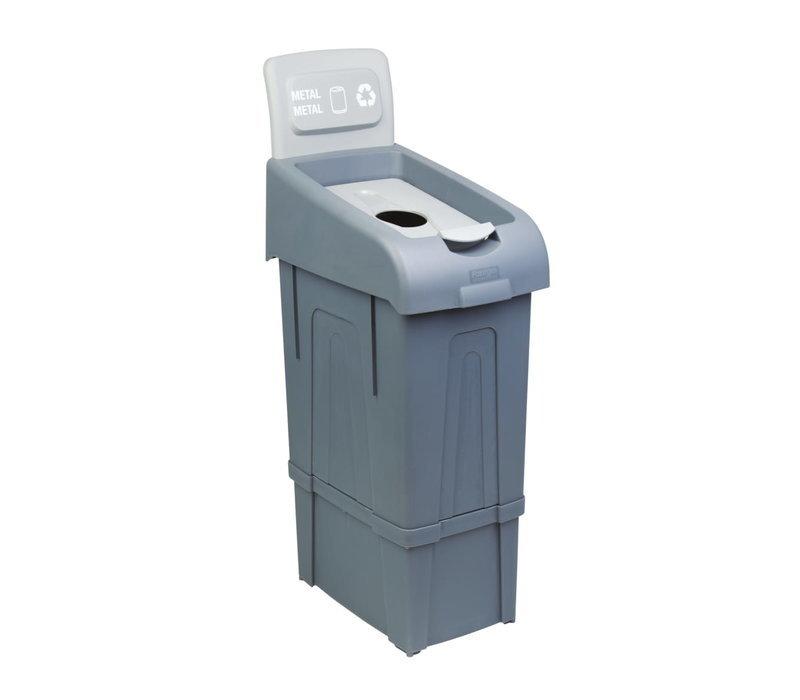 Combisteel Abfallbehälter zum Trennen von Metall | 80 Liter | 340x550x(h)1050mm