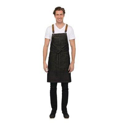 Chef Works Urban Halfter Schürze Urban Berkeley | Jeansschürze mit Hosenträgern | 100% Denim Baumwolle