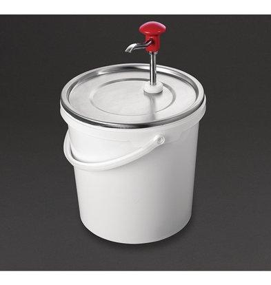 Schneider Soßenspender mit Pumpe | 10 Liter Behälter | Einstellbare Dosierung | Ø275x (H) 400 mm