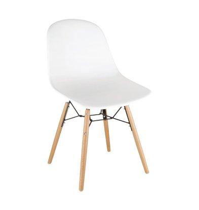 Bolero Stühle aus Polypropylen mit Holzbeinen | 2 Stück | 460 x 540 x (H) 830 mm | Verfügbar in 4 Farben