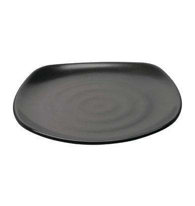 Kristallon Fusion Melamin | Quadratische Teller | Runde Ecken | 6 Stück | Ø250mm