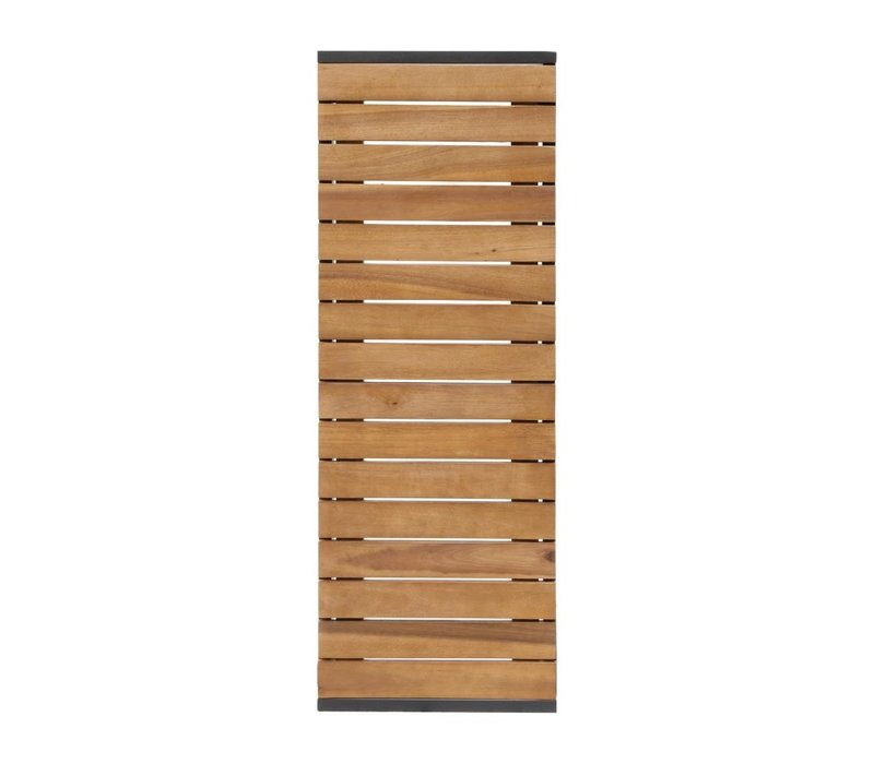 Bolero Akazienholz Bänke mit Stahlgehäuse | 1000 x 350 x (H) 450 mm | 2 Stück