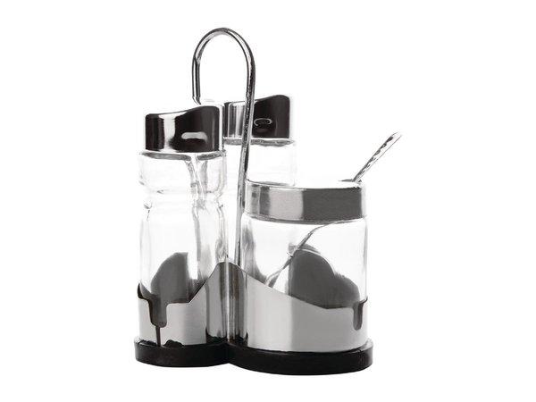 Comas Comas Menage Set für Salz, Pfeffer und Senf | 106x100x(H)218mm