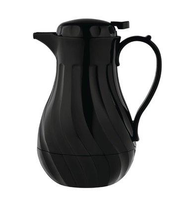 Olympia Swirl Isolierkanne | Schwarz | 2 Liter | Ø182x(H)284mm