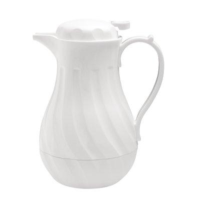 Olympia Swirl Isolierkanne   Weiß   2 Liter   Ø182x(H)284mm