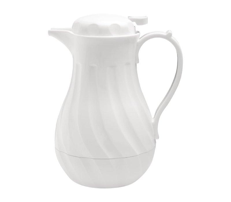 Olympia Swirl Isolierkanne | Weiß | 2 Liter | Ø182x(H)284mm