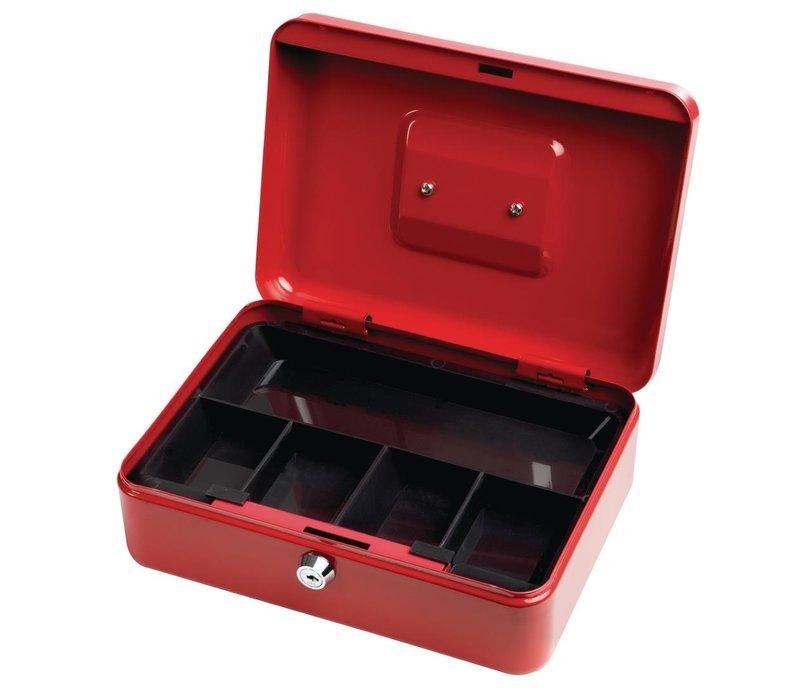 Phoenix Geldkassette | Stahl | Rot | 90x250x180mm