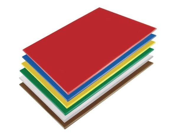 Hygiplas Hygiplas HDPE Schneidebrett   600x450x10mm   Verfügbar in 6 Farben
