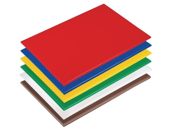 Hygiplas Hygiplas antibakterielles LDPE Schneidebrett | 450x300x10mm | Verfügbar in 6 Farben