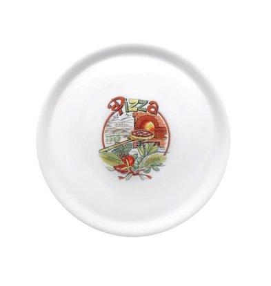 Saturnia Porzellan-Pizzateller | Mit Aufdruck | 310mm | Erhältlich in 4 Aufdrucken