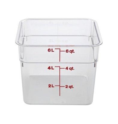 Cambro Quadratische Lebensmittelbox aus Polycarbonat | Verfügbar in 3 Größen