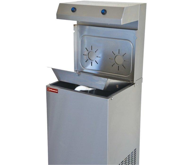 Diamond Edelstahl Wasserkühler | 150 Liter/St. | Doppelausgießer | 400x385x(h)1400mm
