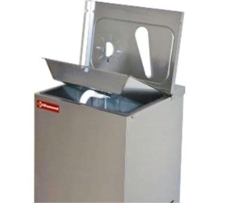 Diamond Gekühlter Wasserstation | 35 Liter/ St. | Gebogener Wasserhahn für Gläser | 400x385x(h)1245mm
