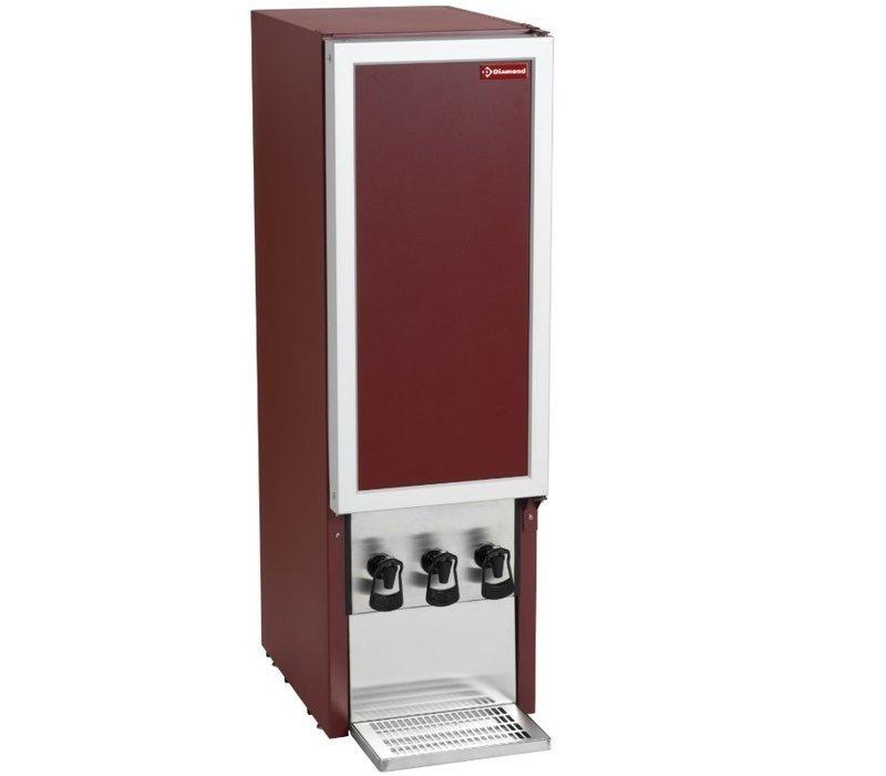 Diamond Weinspender 3x 10 Liter | Geeignet für Weinkartons | 3x Auslaufhahn | 350x455x(h)1145mm