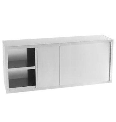 XXLselect Wandschrank | Edelstahl | Zwischenboden und Schiebetüren | 140cm