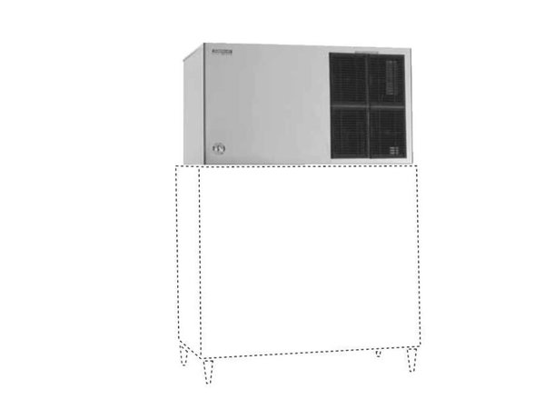 Hoshizaki Eismaschine | 624kg/24St | Hoshizaki KM-1301SAJ-E | Luftgekühlt | Kein Speicher | Halbmondform
