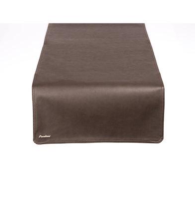 Pavelinni Leder Tischläufer | Vintage Equator | Einseitig | 450x1200mm | Erhältlich in 8 Farben