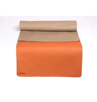 Pavelinni Leder Tischläufer | Classic Abruzzo/Cayenne | Doppelseitig | 450x1200mm | Erhältlich in 8 Farben