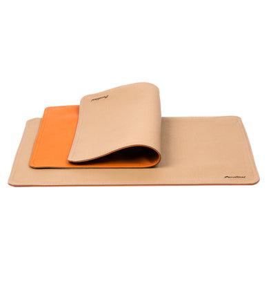 Pavelinni Leder Tischset | Classic Abruzzo/Cayenne | Doppelseitig | 300x450mm | Erhältlich in 8 Farben