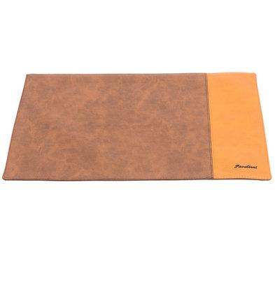 Pavelinni Leder Tischset | Streifen Cognac/Havanna | Doppelseitig | 300x450mm | Erhältlich in 10 Farben