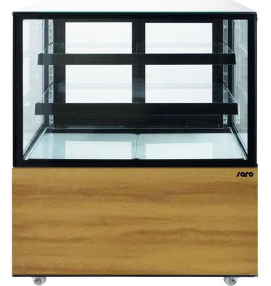 Saro Kühlvitrine mit Rollen | 2 verstellbaren Glasablagen | 270 Liter | 915x675x(h)1268mm