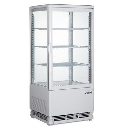 Saro Kühlvitrine | 78 Liter | 425x380x(h)960mm | Erhältlich in 2 Farben