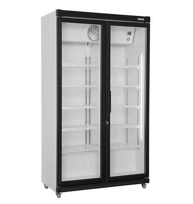 Saro Kühlschrank mit Doppel Glastür | 10 Roste verstellbar | LED Beleuchtung| 850 Liter | 1120x595x(h)1973mm