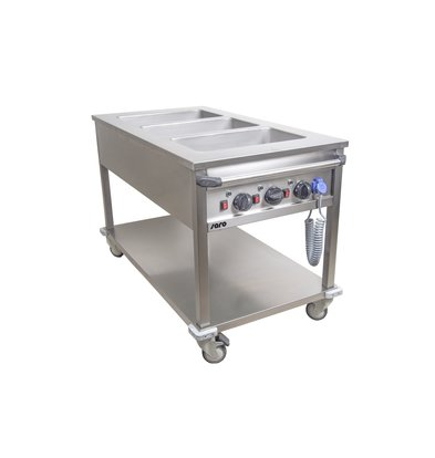 Saro Bainmarie Trolley | 3 X 1/1 GN | 3kW | 1300x700x(h)850mm