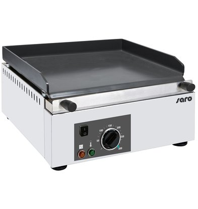 Saro Elektro Grillplatte   Keramische Beschichtung   3 kW   395x450x(h)225mm