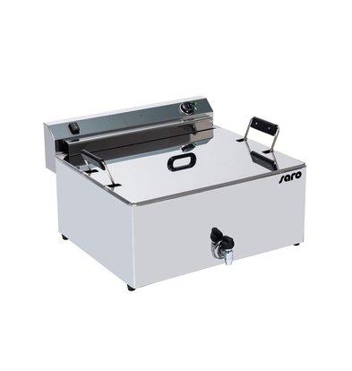 Saro Patisserie Fritteuse | 16 Liter | Ablasshahn | 9 kW | 420x250x(h)110 mm