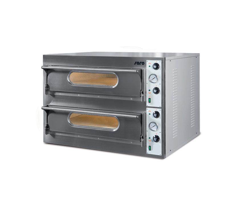 Saro Pizzaofen   2 Kammern   2x9kW   2x6 Pizza's von Ø360mm   1310x865x(h)710mm