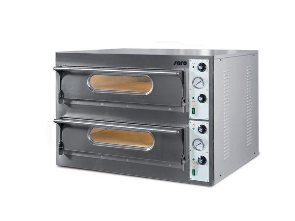 Saro Pizzaofen | 2 Kammern | 2x13kW | 2x9 Pizza's von Ø360mm | 1310x1225x(h)710mm